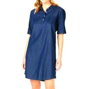 KAREN SCOTT - Chambray Shirtdress
